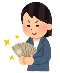 money and woman